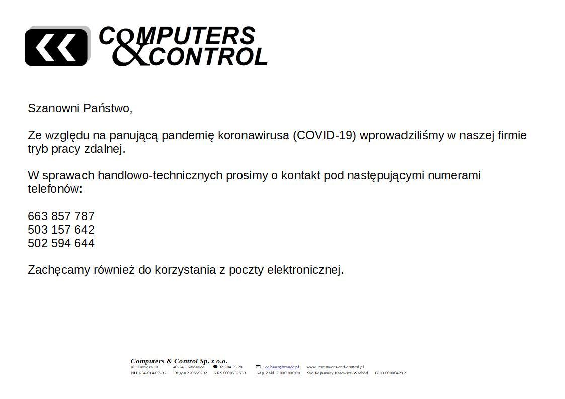 Komunikat COVID-10